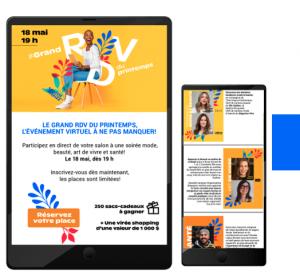 Le grand Rendez-vous du printemps - Un événement web en direct | Audace & Co.